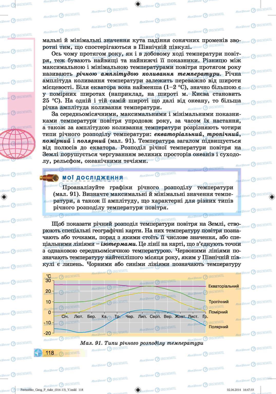 Підручники Географія 6 клас сторінка 118