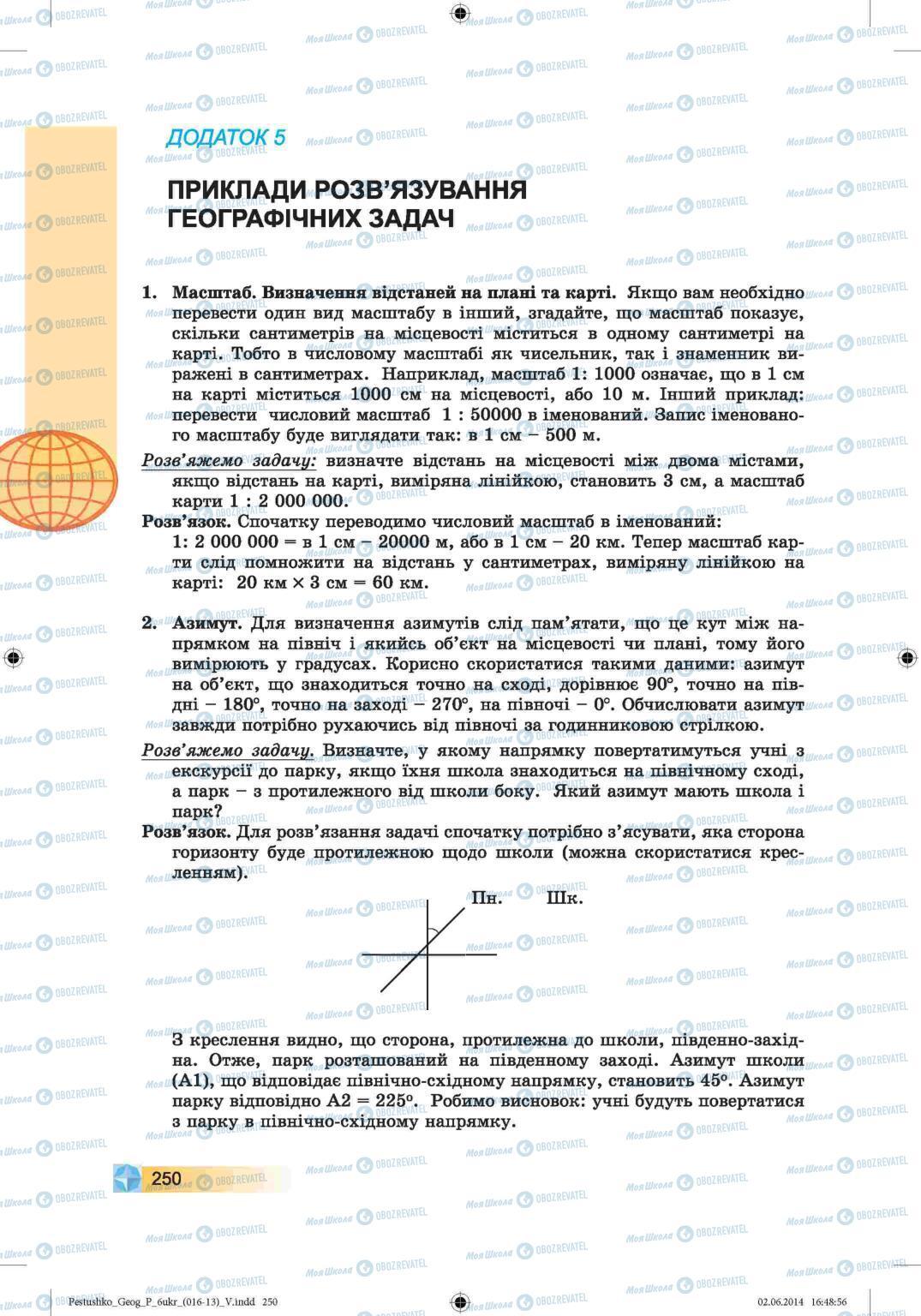 Підручники Географія 6 клас сторінка 250