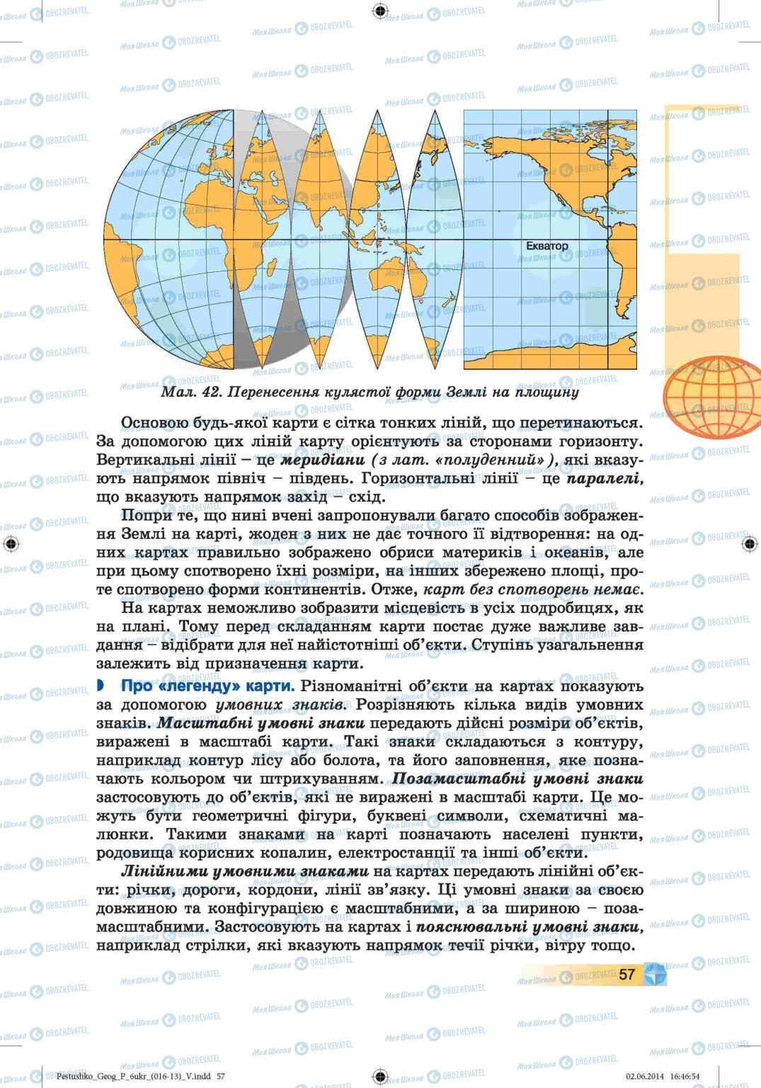 Підручники Географія 6 клас сторінка 57