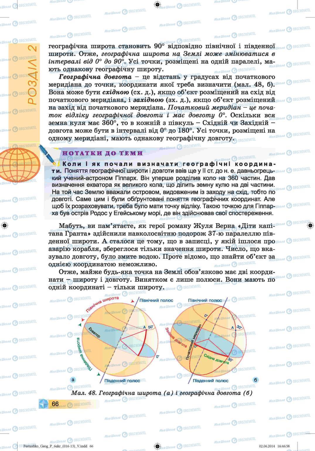 Підручники Географія 6 клас сторінка 66