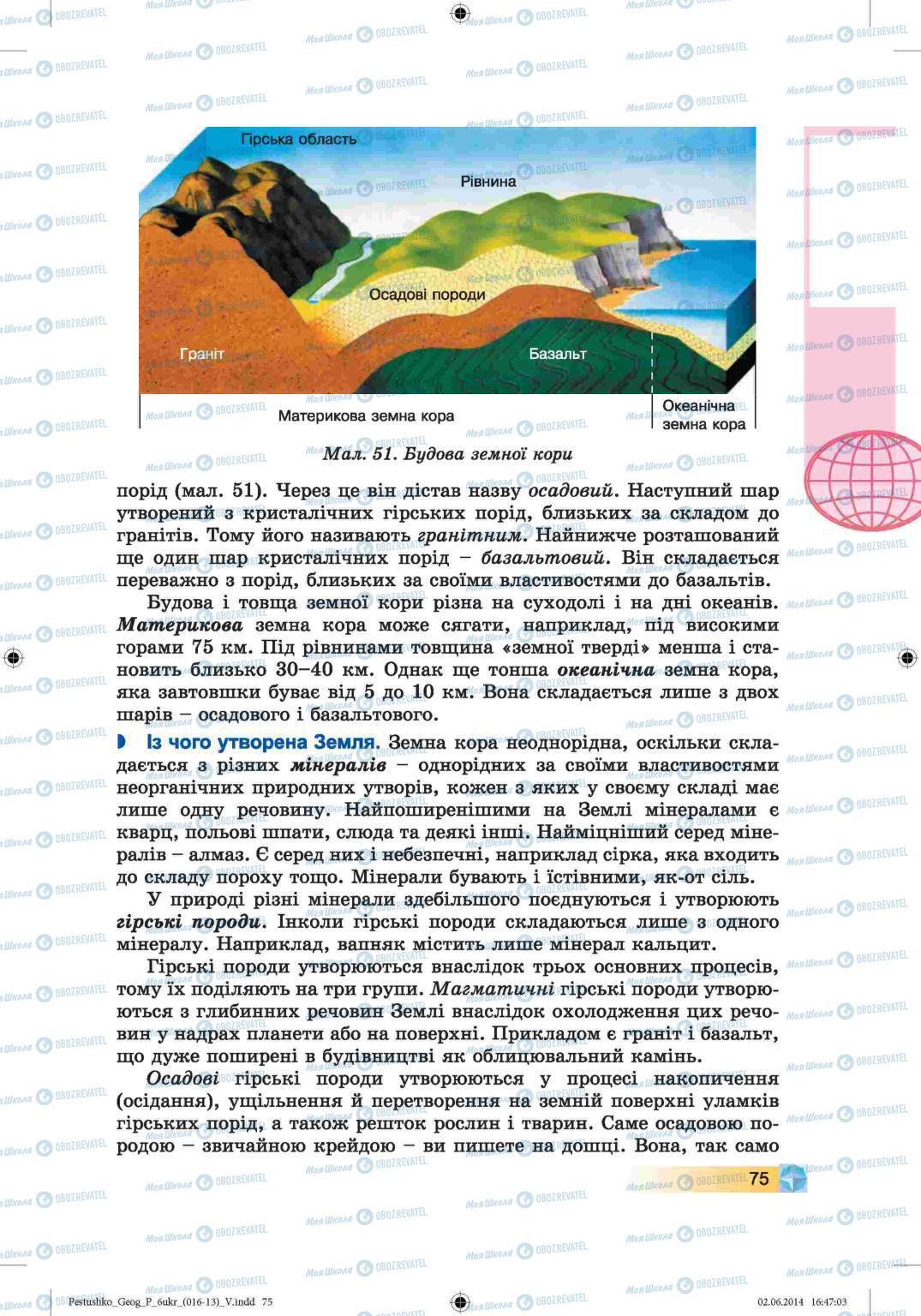 Підручники Географія 6 клас сторінка 75
