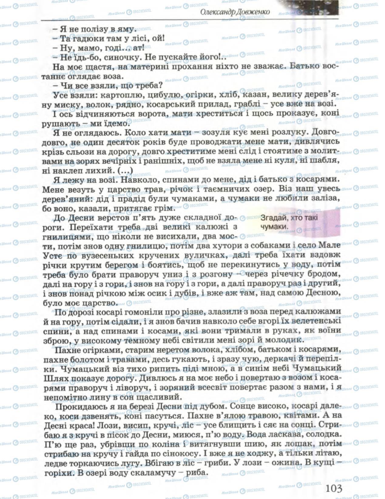 Підручники Українська література 6 клас сторінка 102