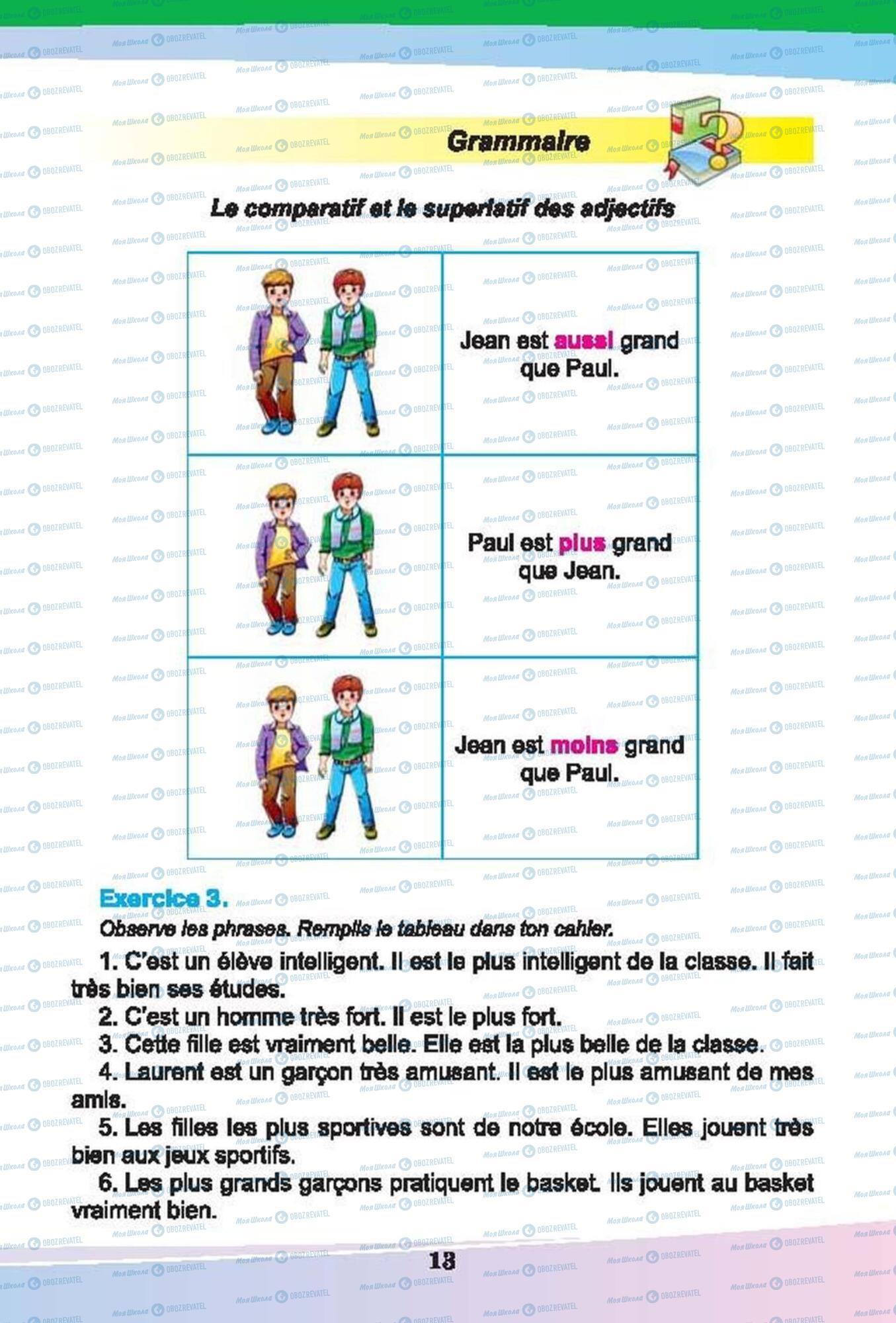 Підручники Французька мова 6 клас сторінка 13