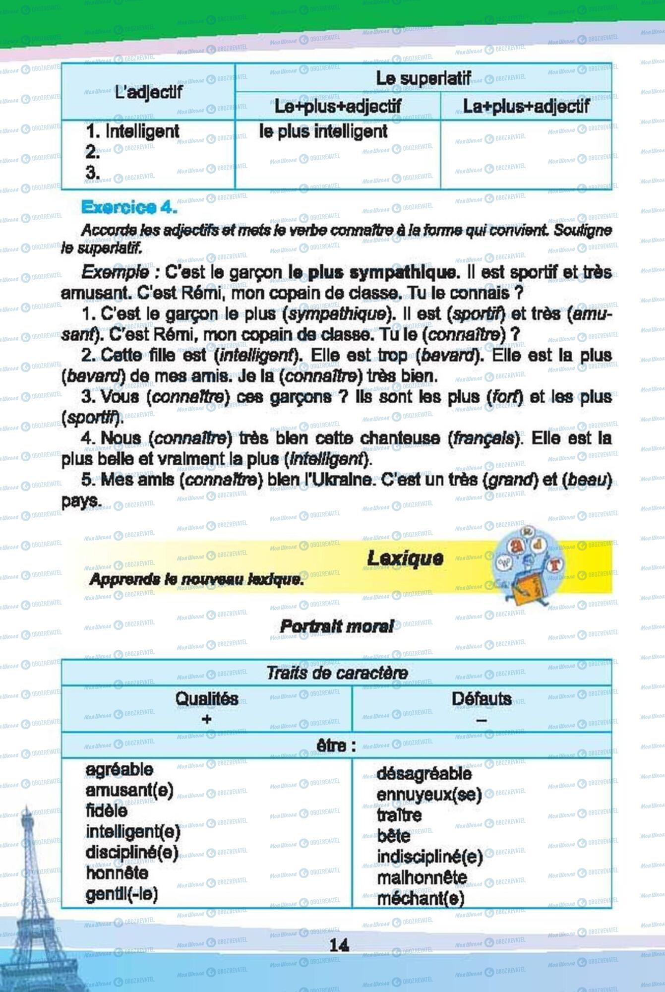 Підручники Французька мова 6 клас сторінка 14