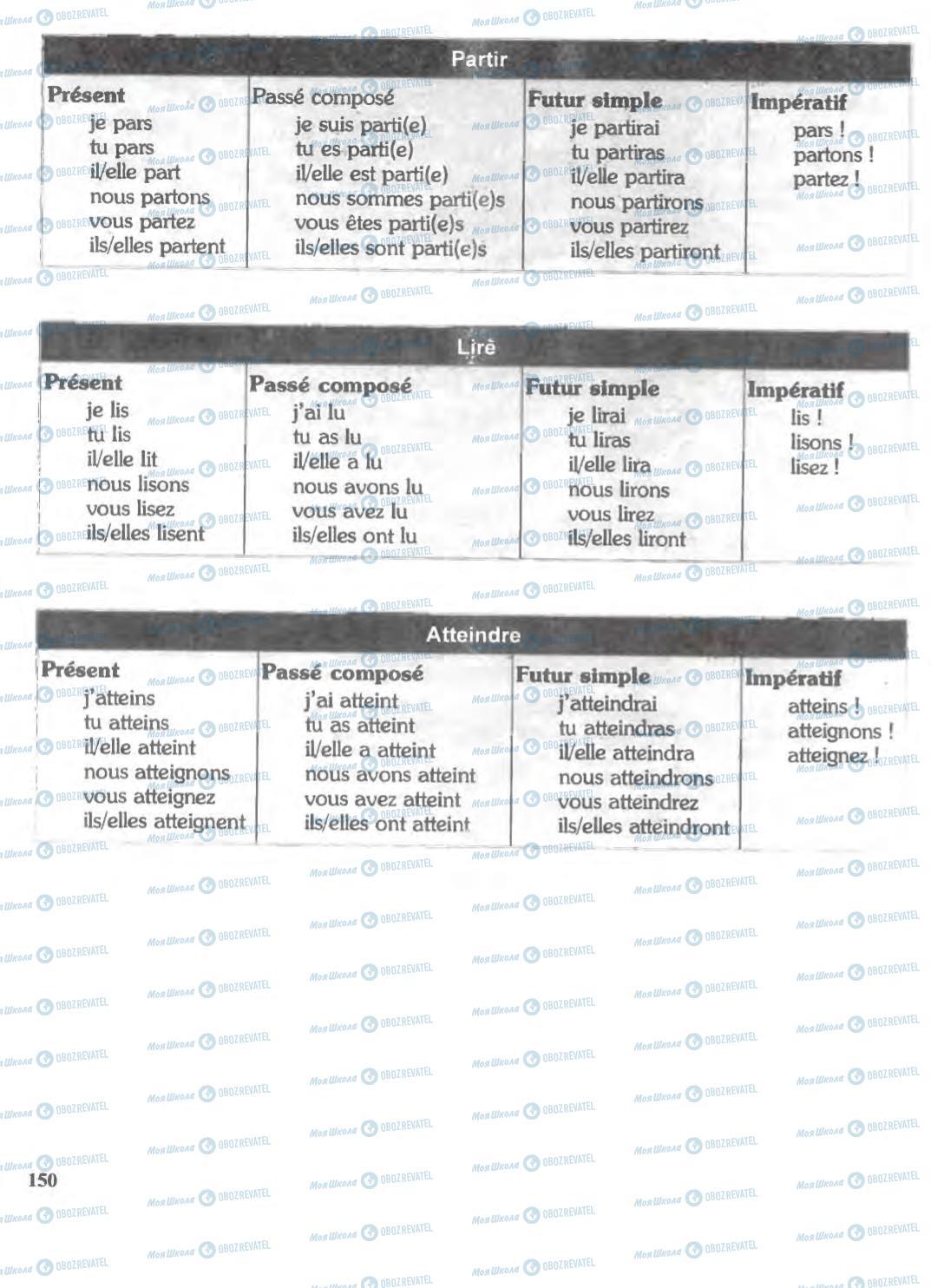 Підручники Французька мова 6 клас сторінка 150