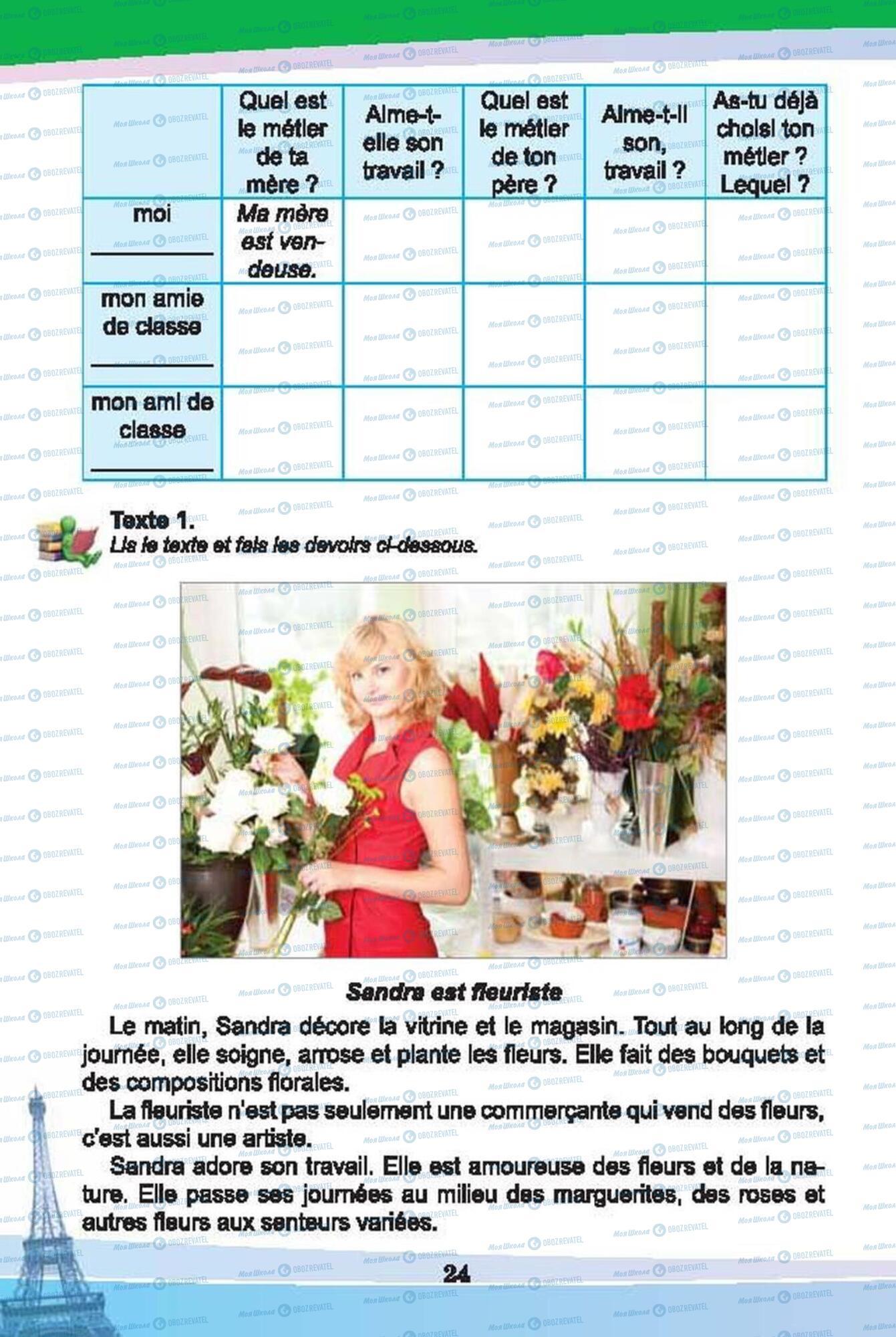 Підручники Французька мова 6 клас сторінка 24