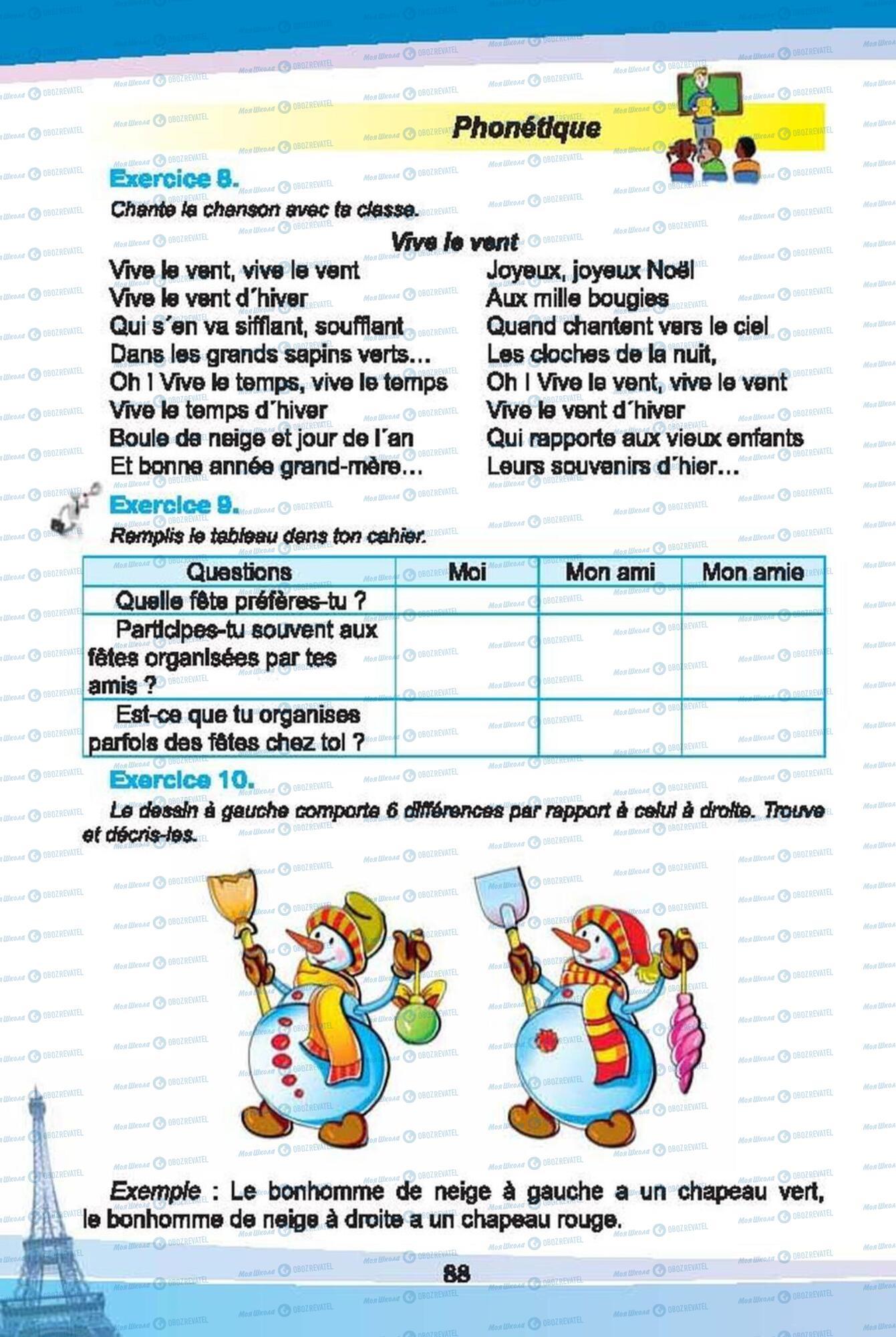 Учебники Французский язык 6 класс страница 88