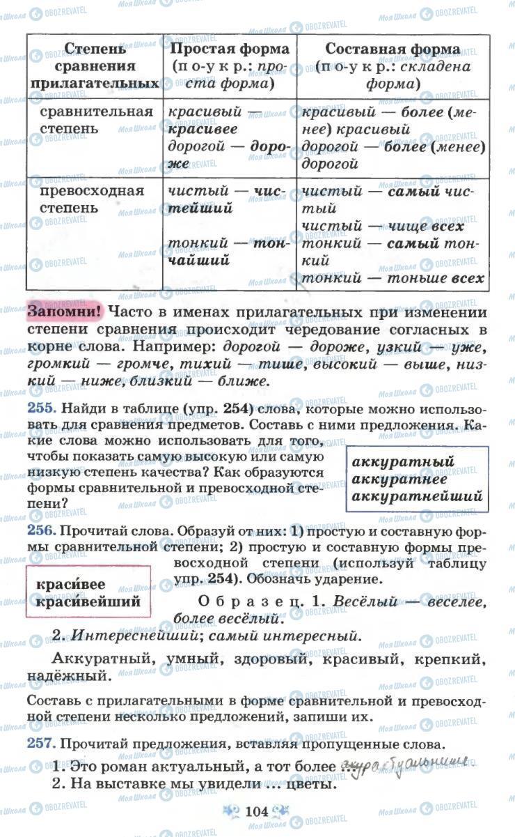Учебники Русский язык 6 класс страница 104