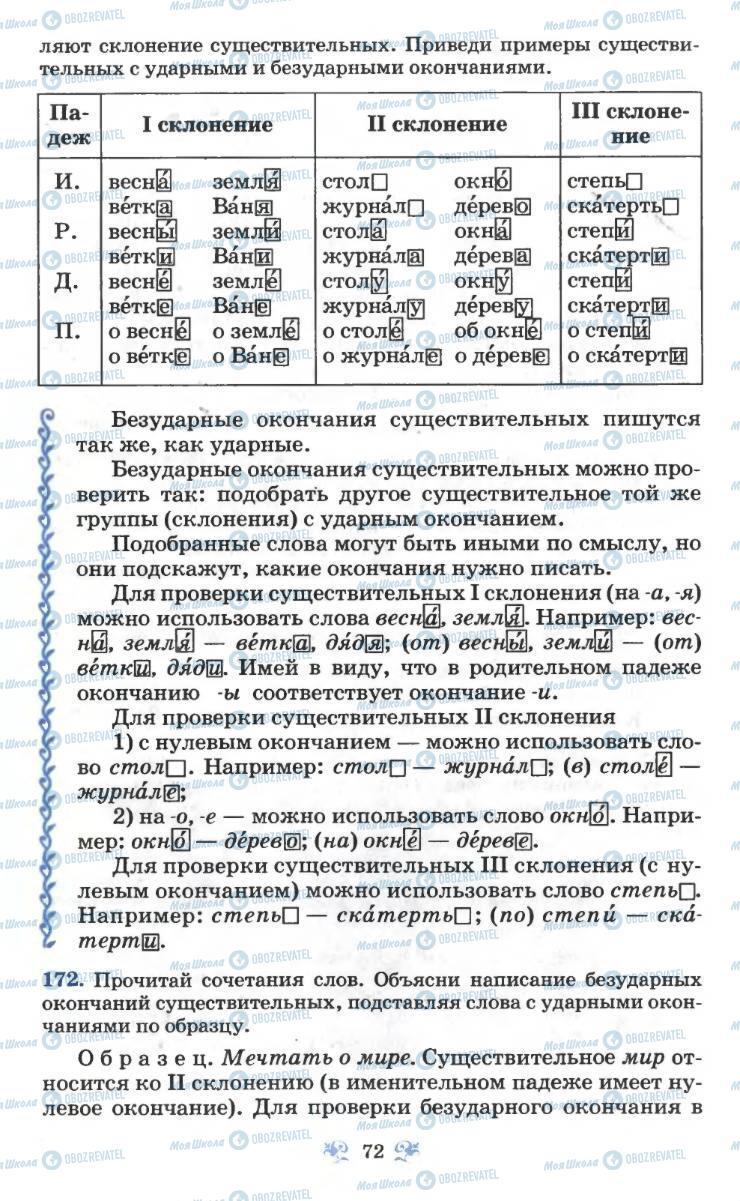 Учебники Русский язык 6 класс страница 72