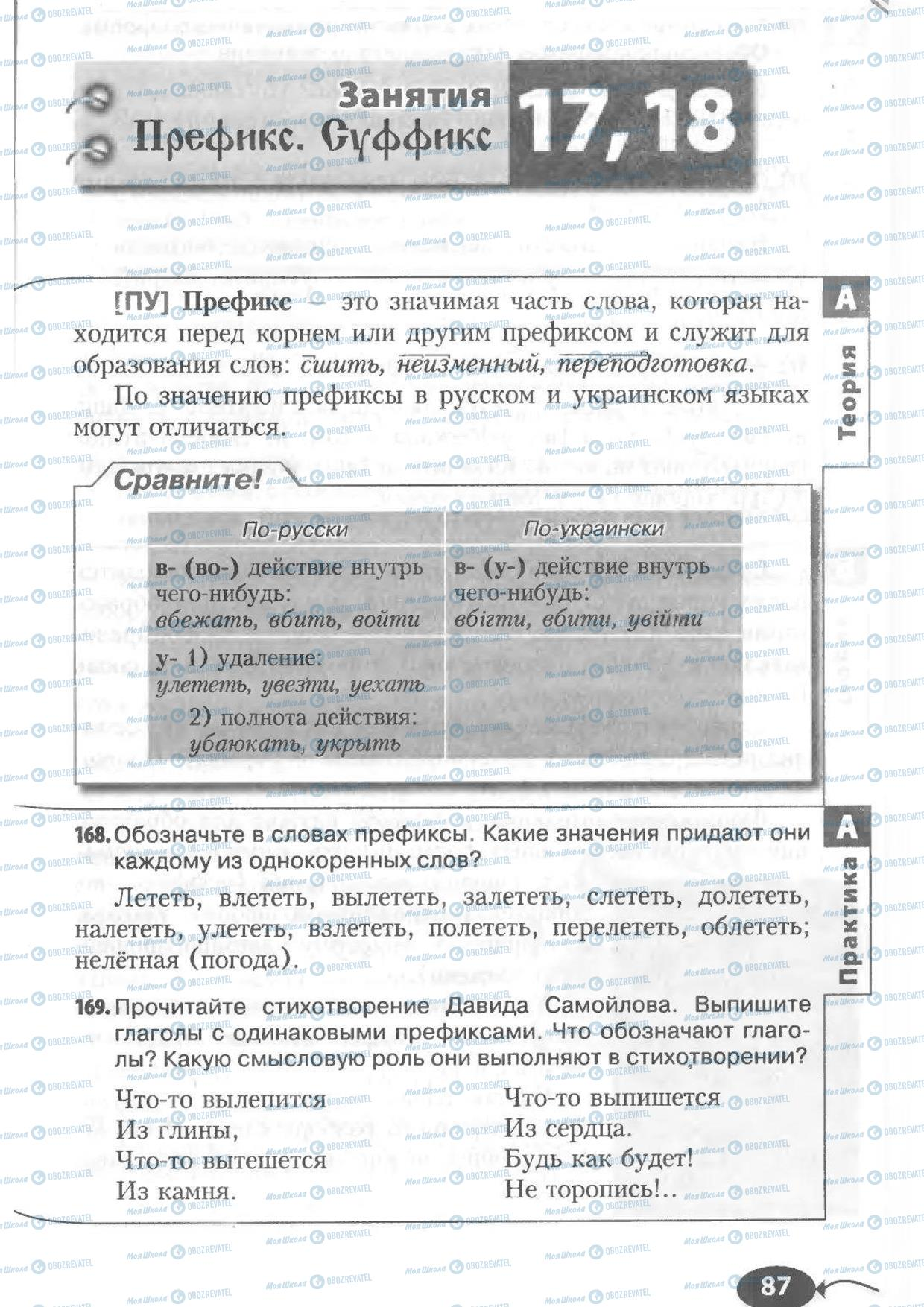 Учебники Русский язык 6 класс страница 87