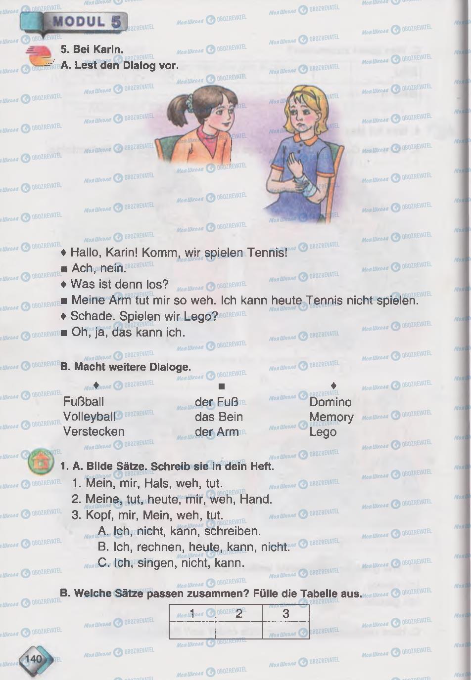Учебники Немецкий язык 6 класс страница 140