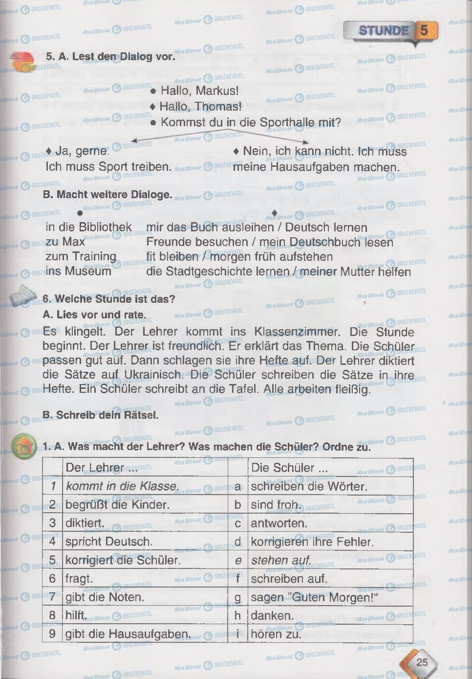 Підручники Німецька мова 6 клас сторінка 25
