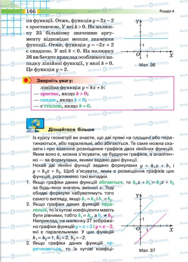 Учебники Алгебра 7 класс страница 166