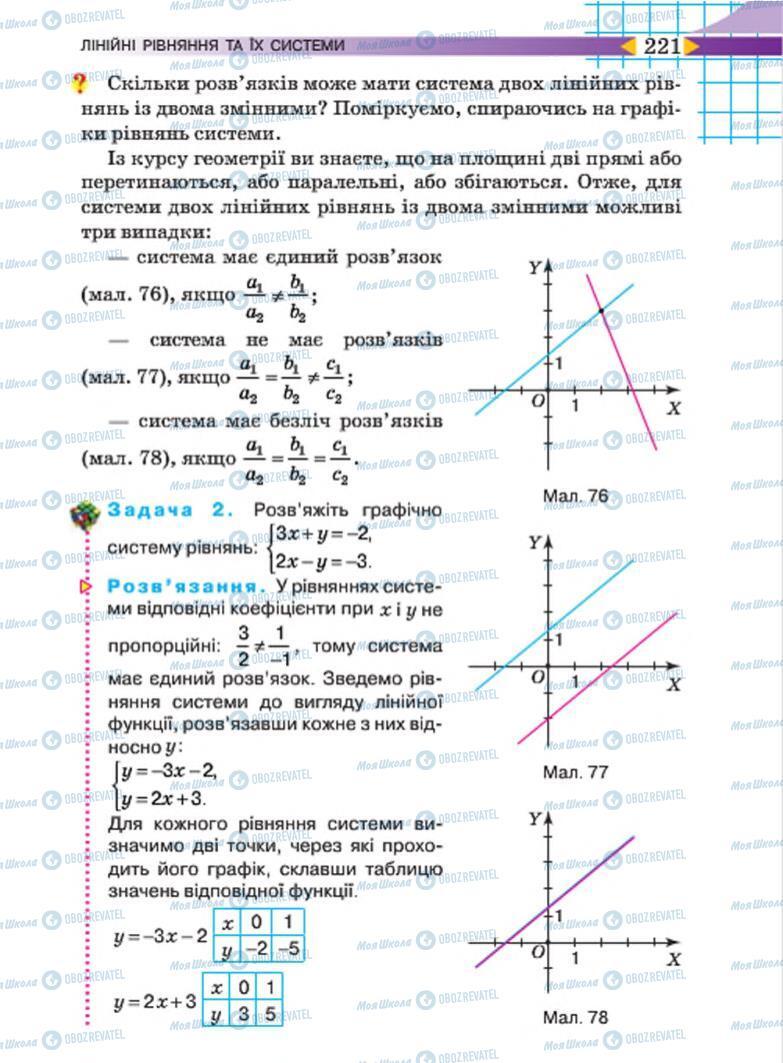 Учебники Алгебра 7 класс страница 221
