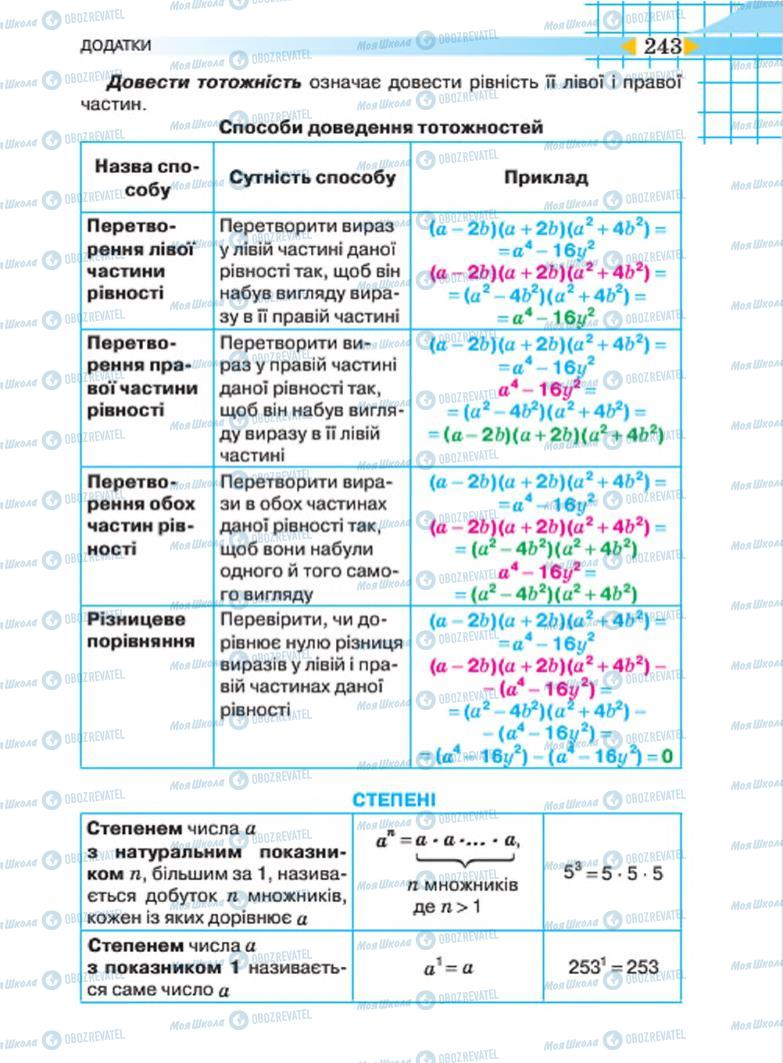 Учебники Алгебра 7 класс страница 243