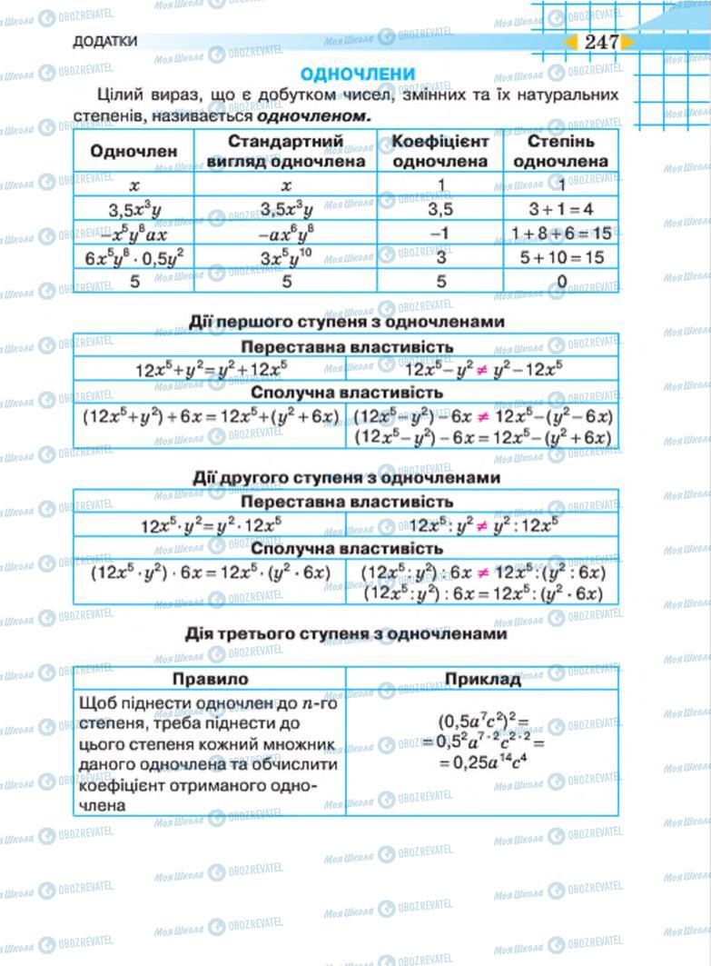 Підручники Алгебра 7 клас сторінка 247