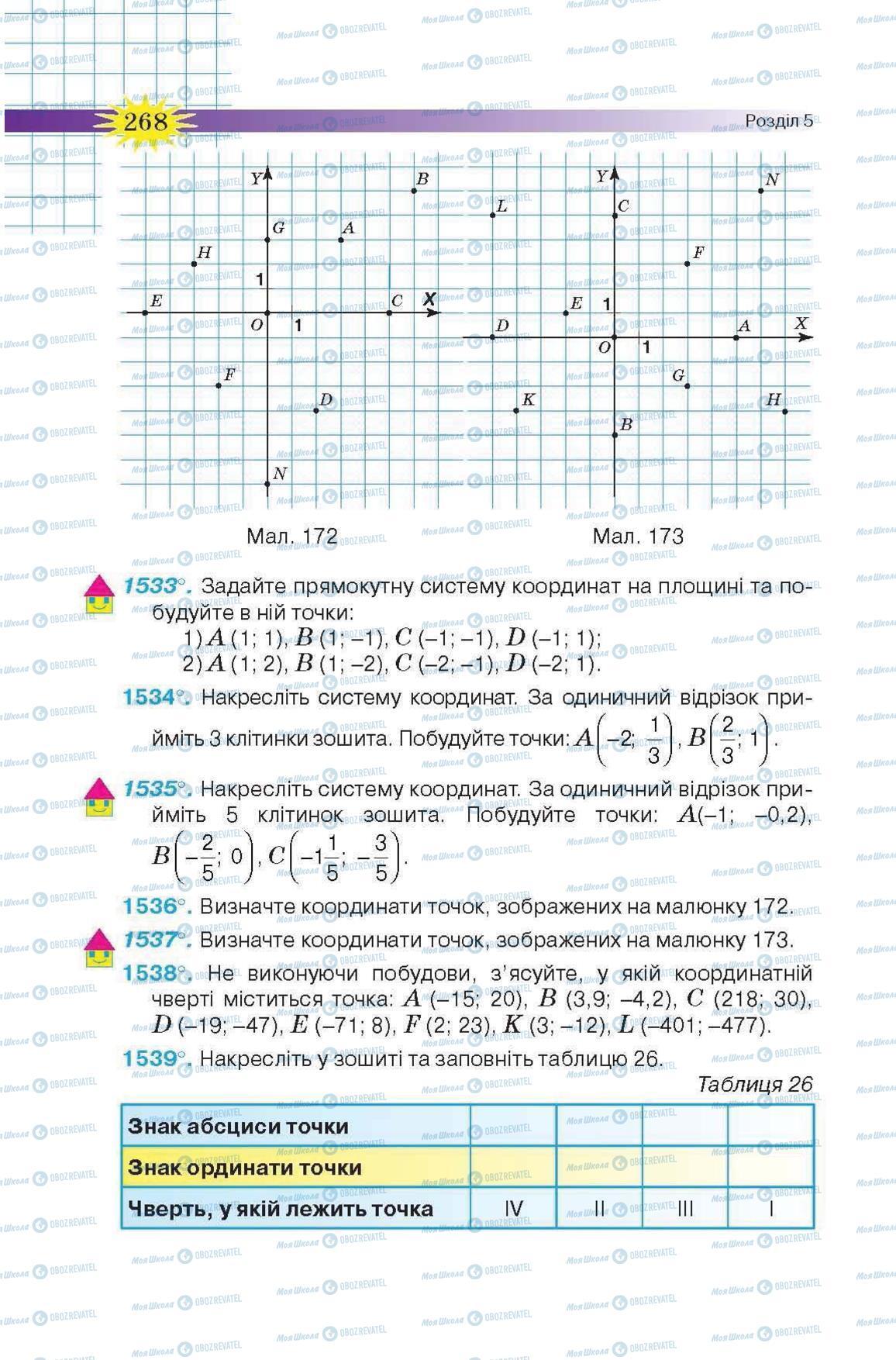 Учебники Математика 6 класс страница 268
