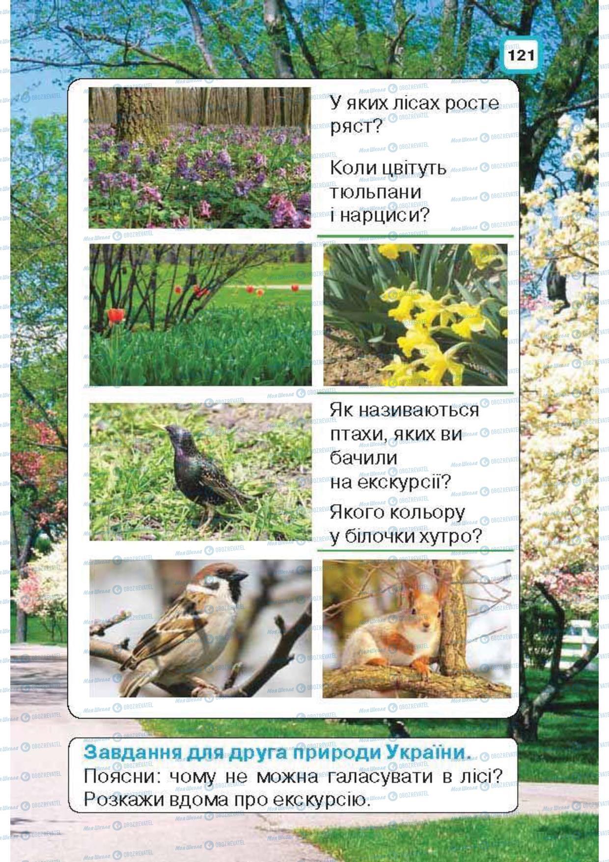 Підручники Природознавство 1 клас сторінка 121