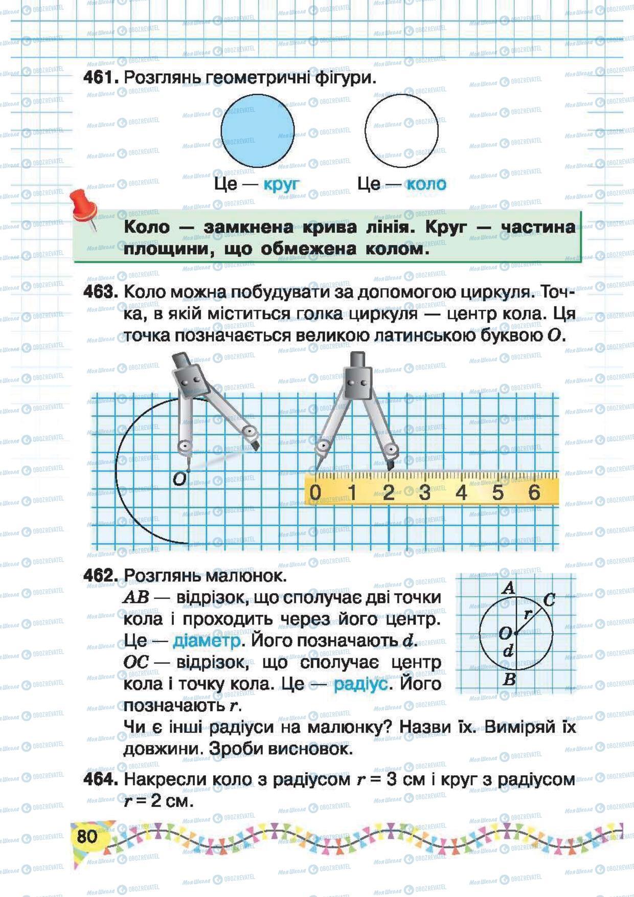 Підручники Математика 2 клас сторінка 80