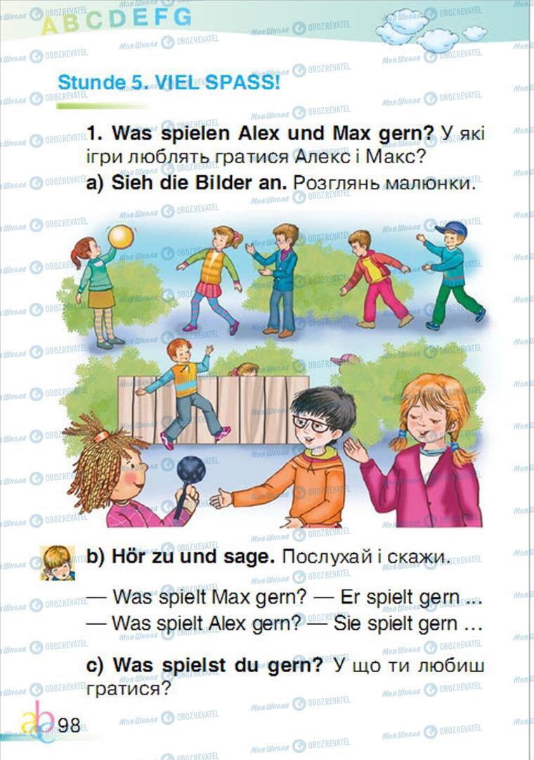 Підручники Німецька мова 1 клас сторінка 98