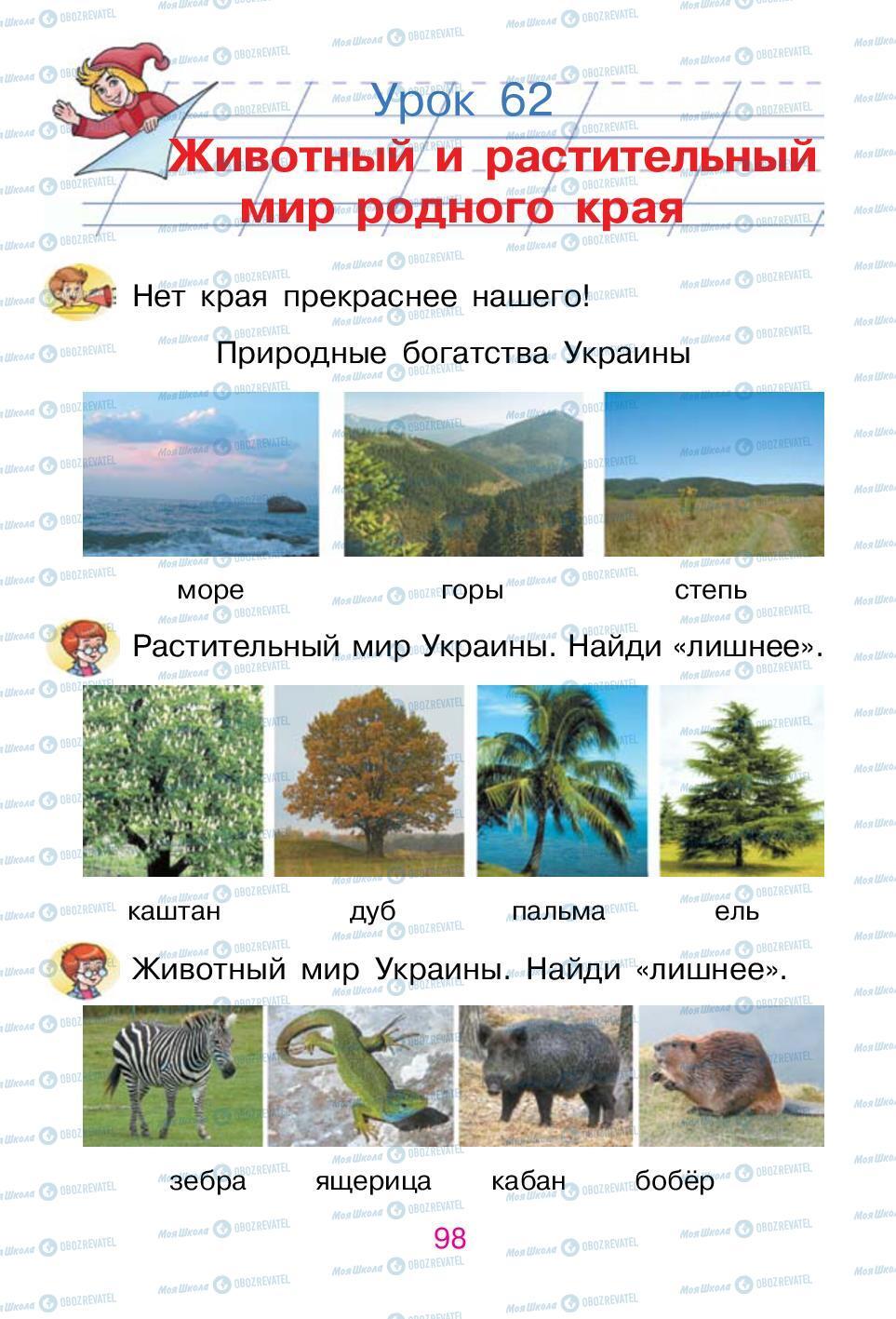 Підручники Російська мова 1 клас сторінка 98