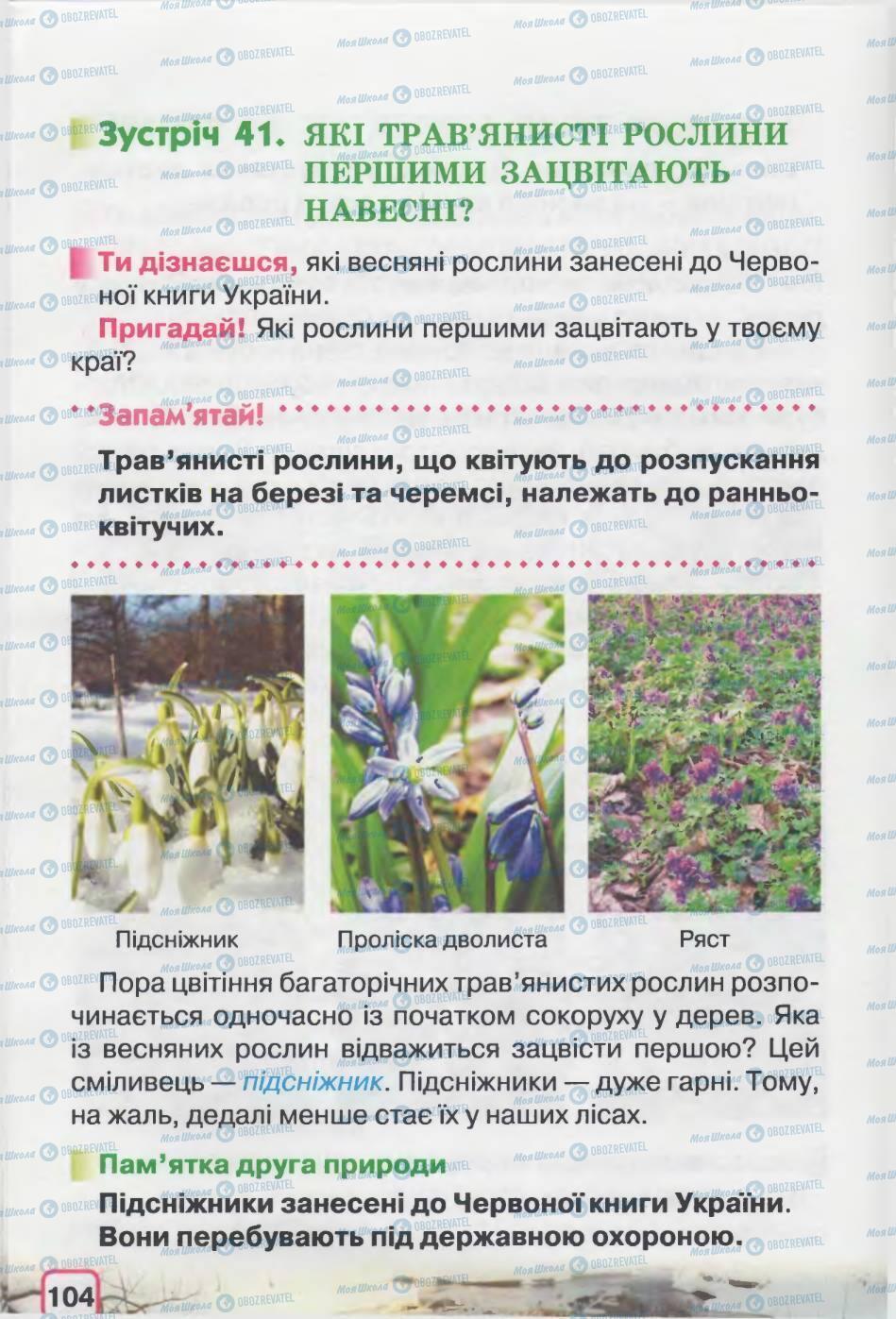 Підручники Природознавство 2 клас сторінка 104
