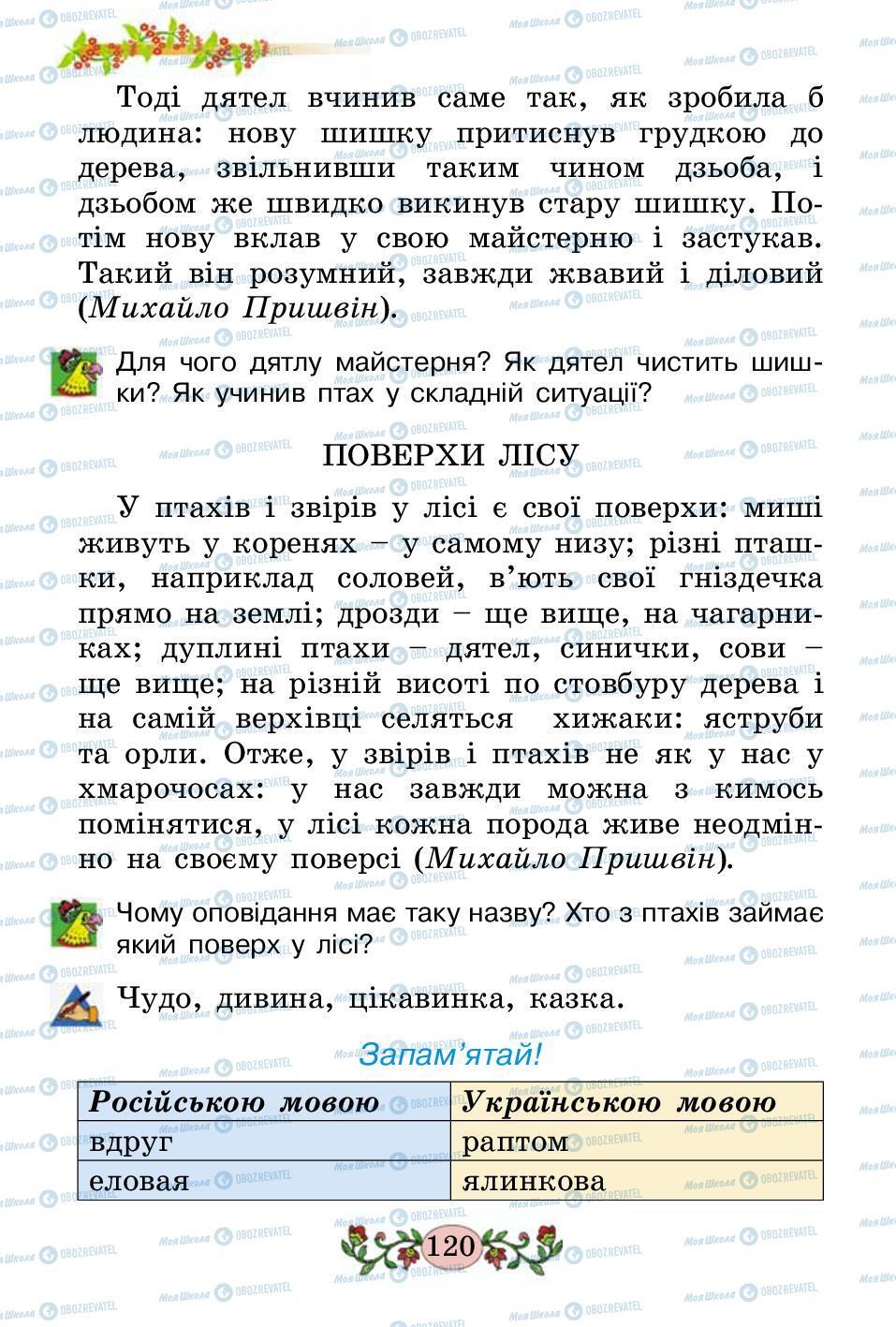 Підручники Українська мова 2 клас сторінка 120