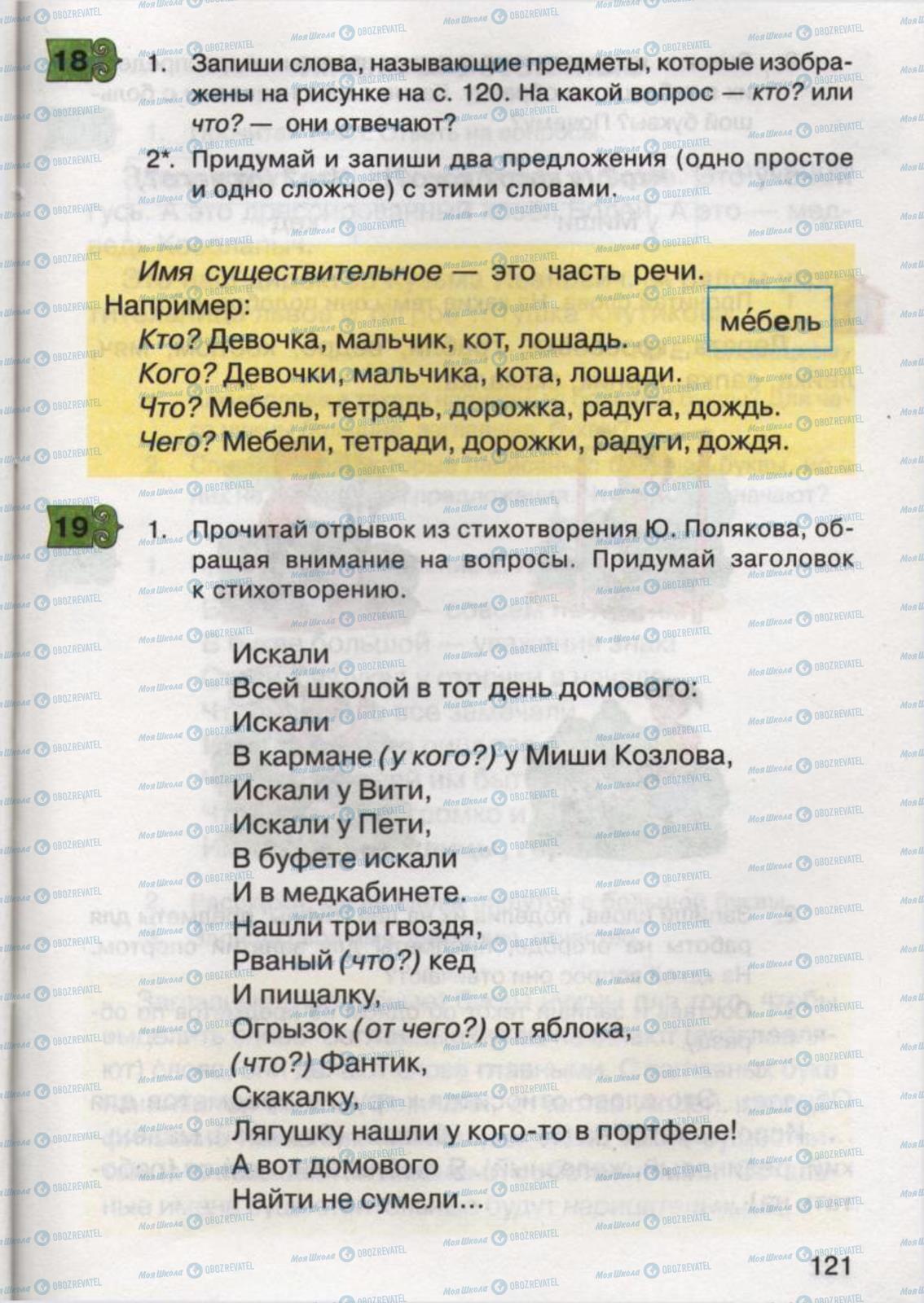 Учебники Русский язык 2 класс страница 121
