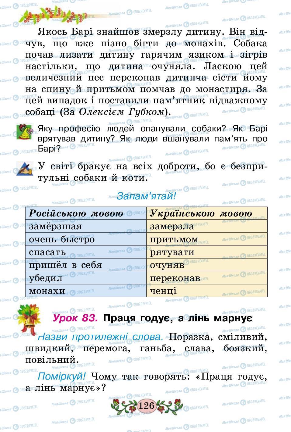 Підручники Українська мова 2 клас сторінка 126