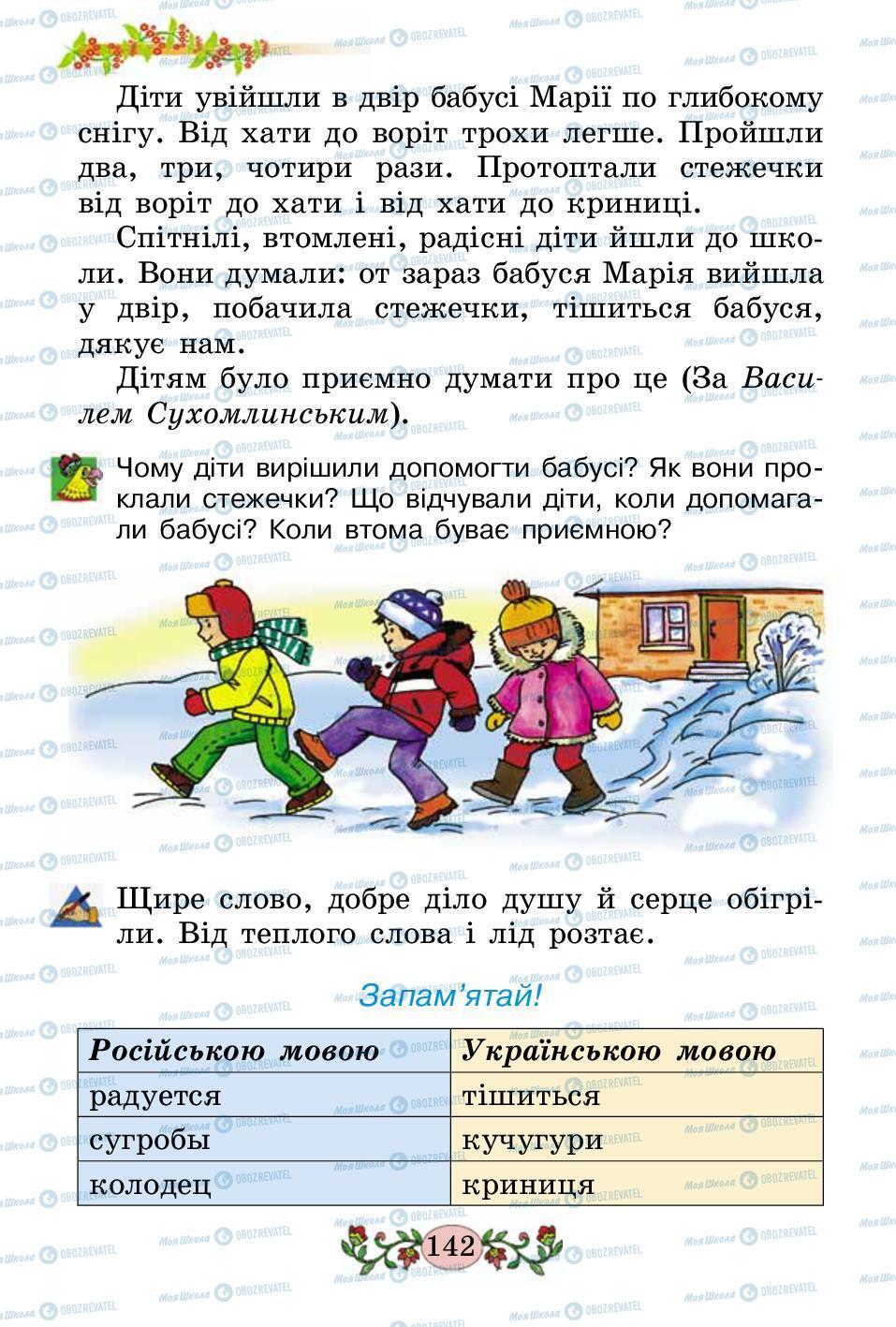 Підручники Українська мова 2 клас сторінка 142