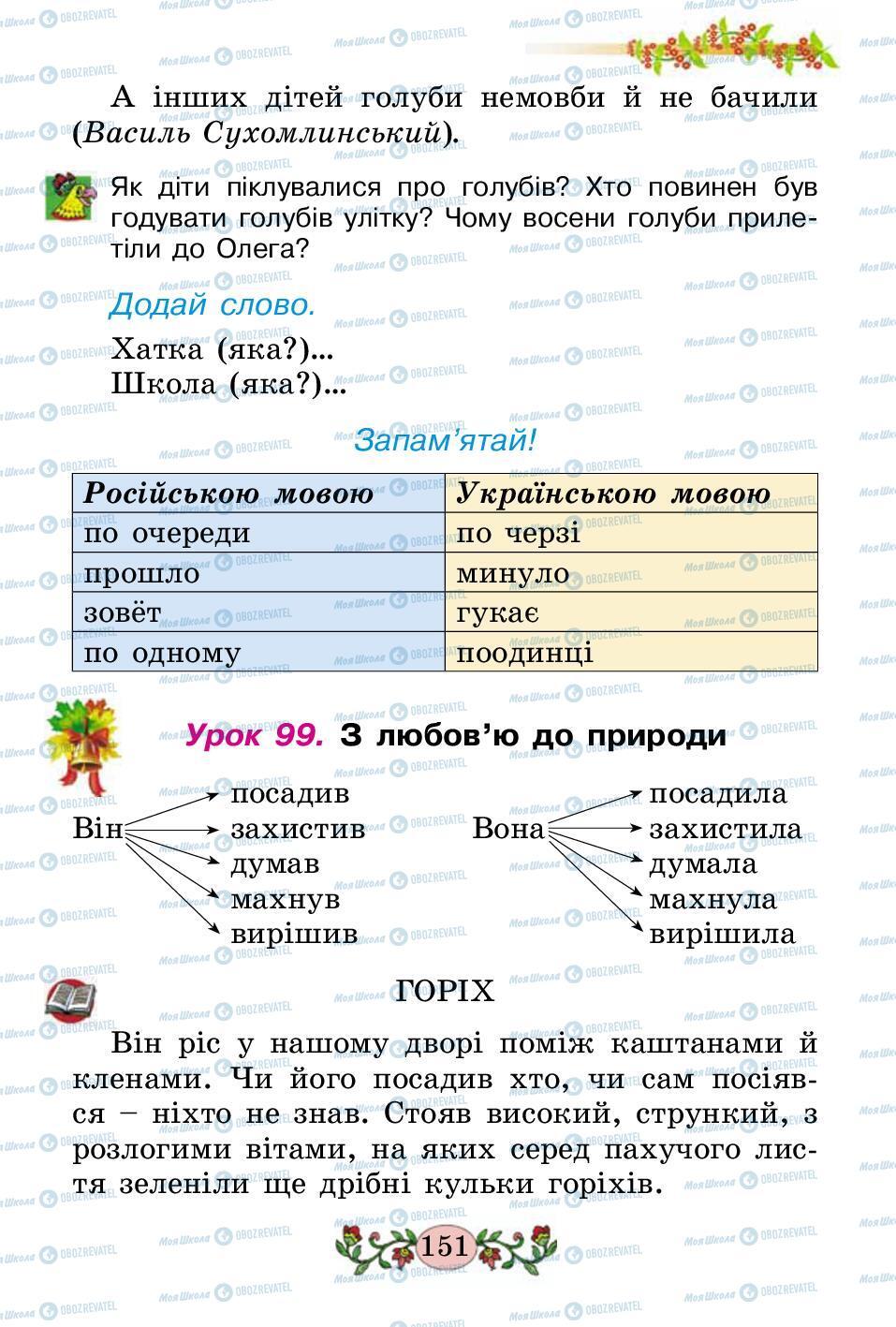 Підручники Українська мова 2 клас сторінка 151