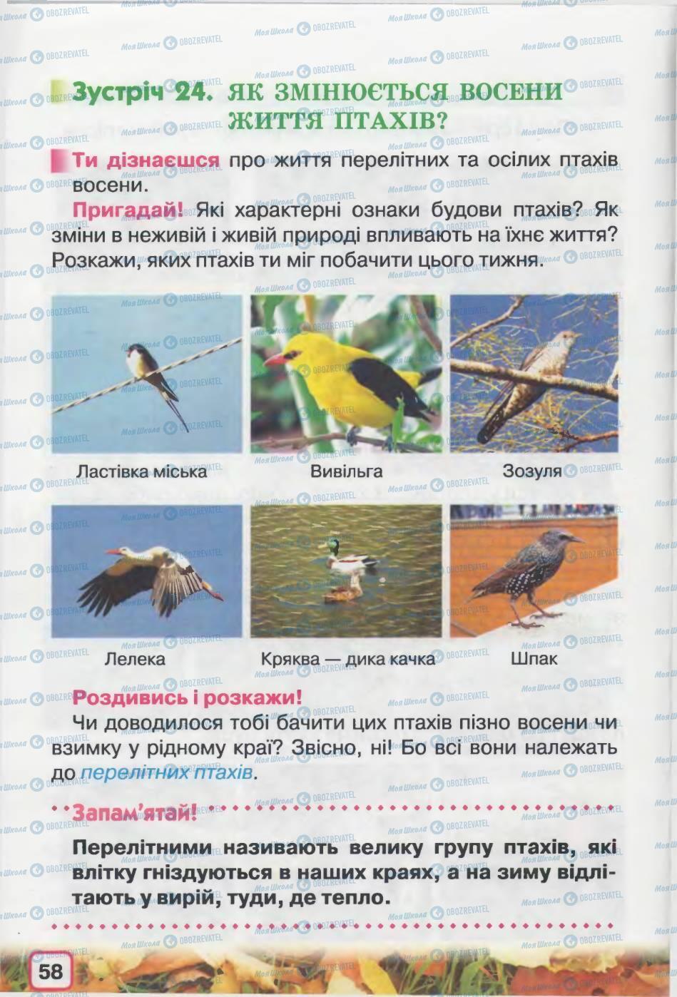 Підручники Природознавство 2 клас сторінка 58
