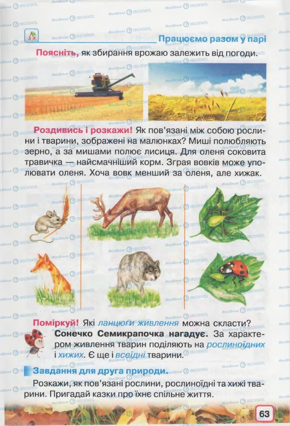 Підручники Природознавство 2 клас сторінка 63