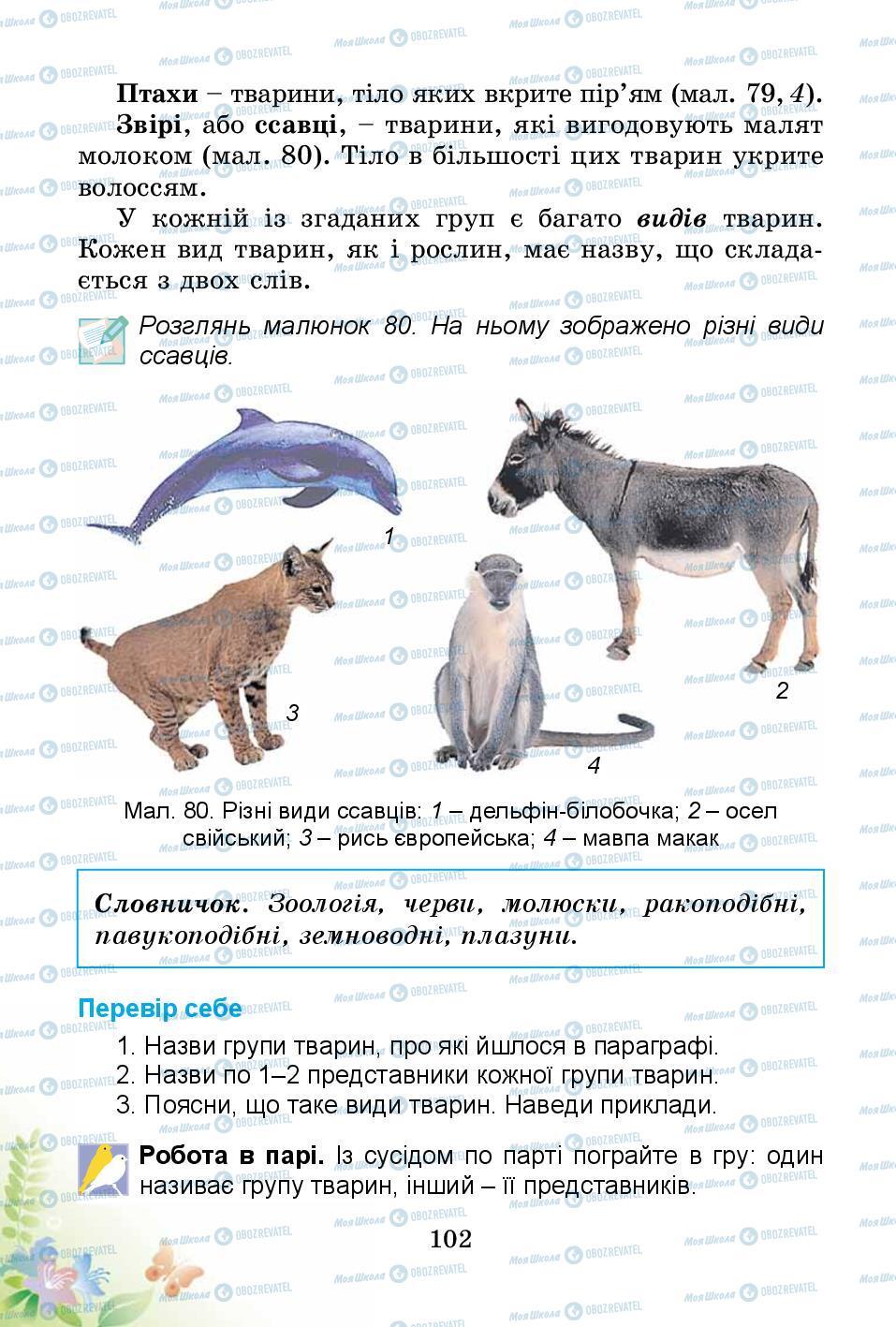 Підручники Природознавство 3 клас сторінка 102