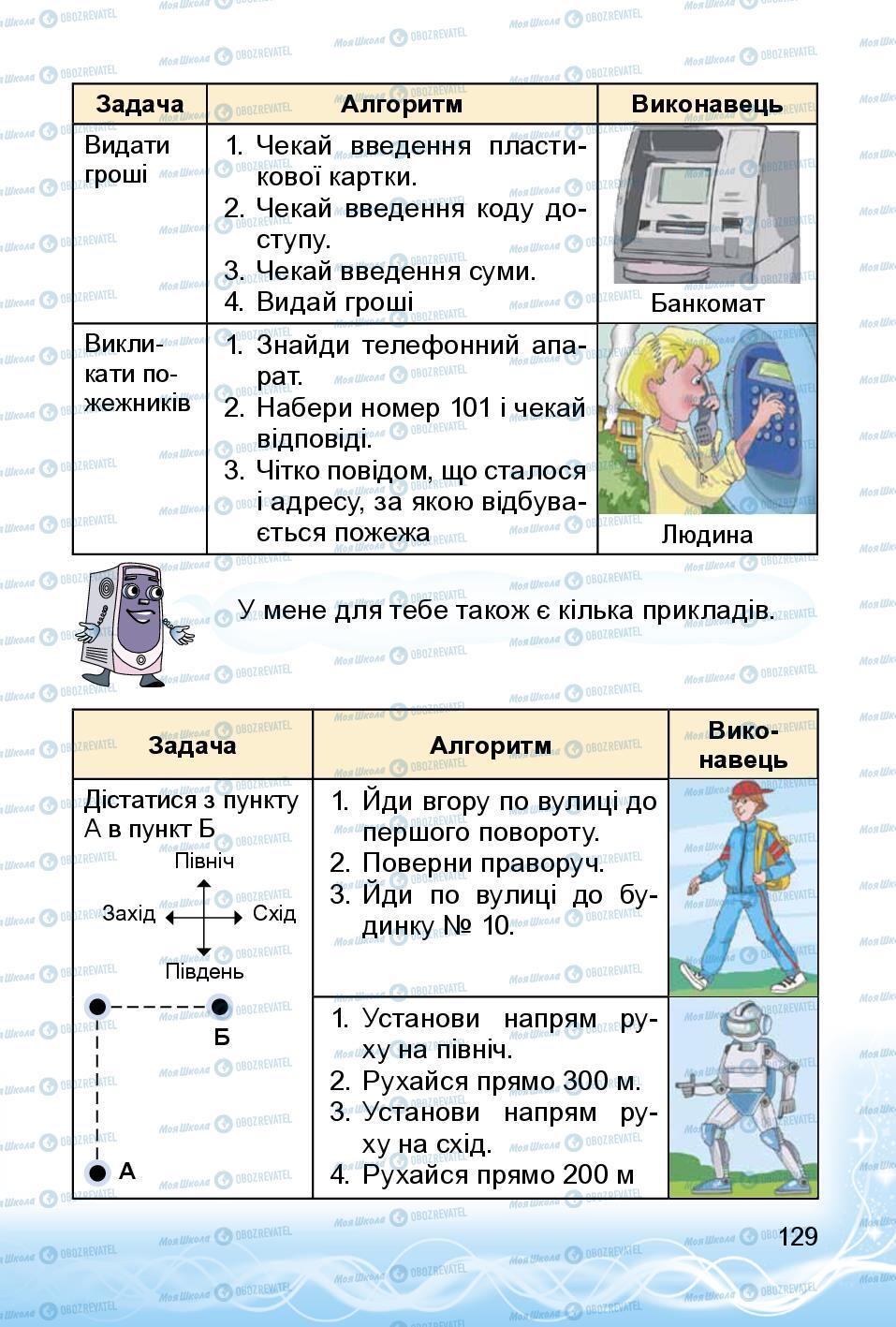 Підручники Інформатика 3 клас сторінка 129