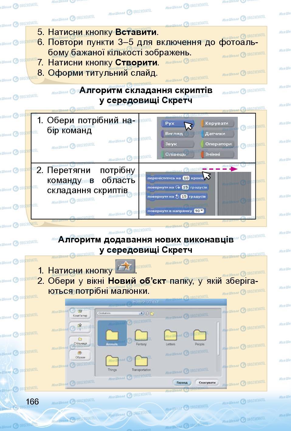 Учебники Информатика 3 класс страница 166