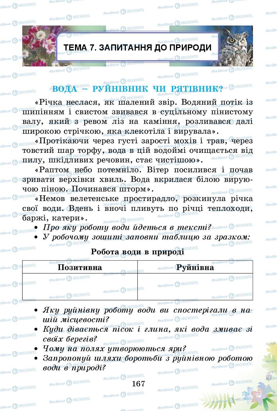 Підручники Природознавство 3 клас сторінка 167