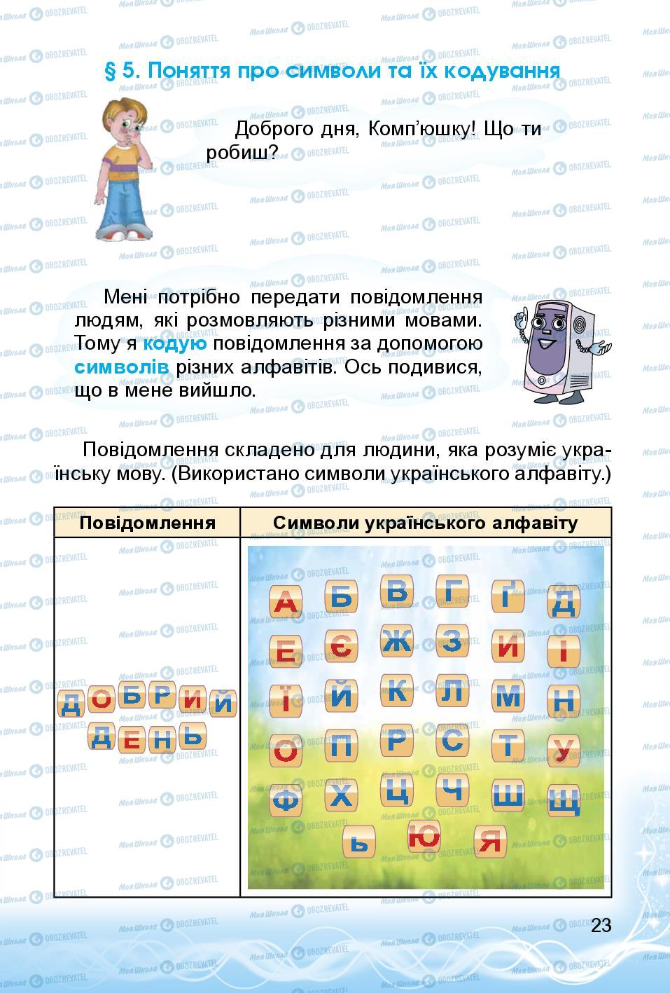 Підручники Інформатика 3 клас сторінка 23