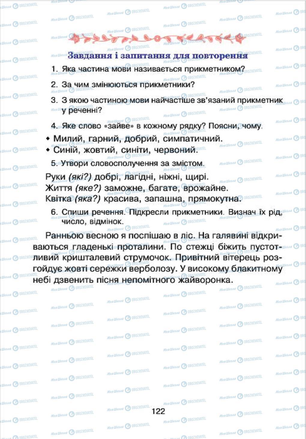 Підручники Українська мова 4 клас сторінка 122