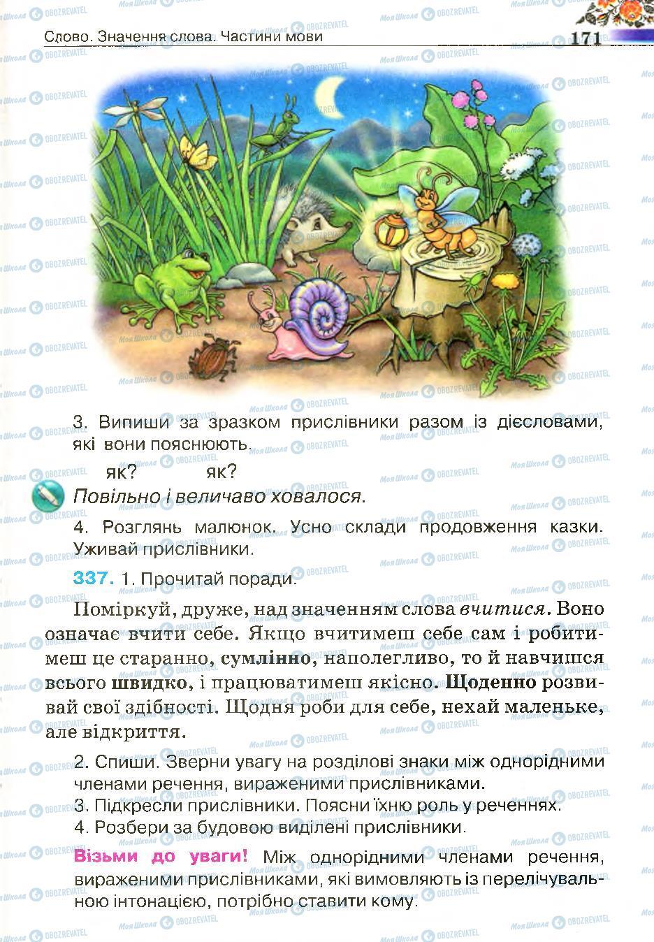 Підручники Українська мова 4 клас сторінка 171
