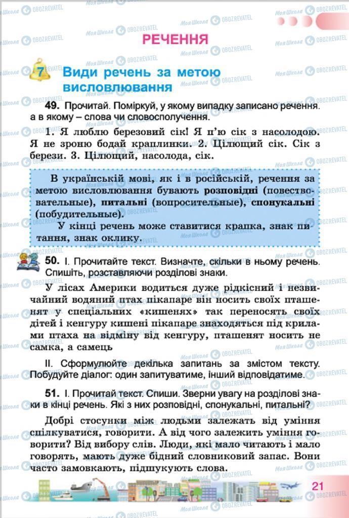 Підручники Українська мова 4 клас сторінка 21
