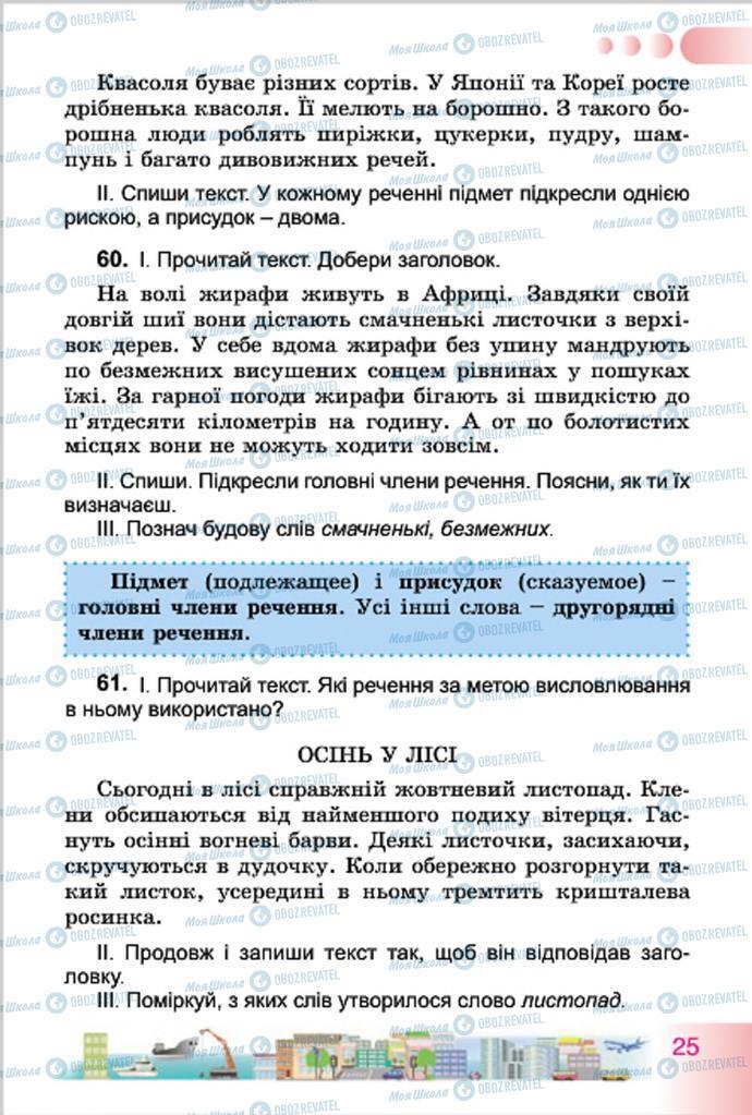 Підручники Українська мова 4 клас сторінка 25