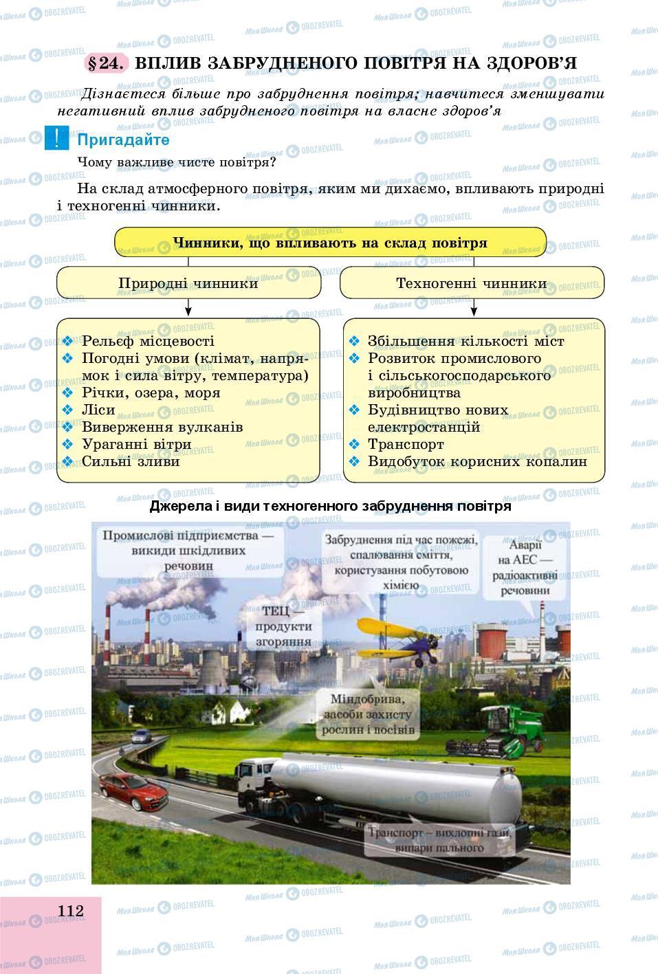 Учебники Основы здоровья 8 класс страница 112
