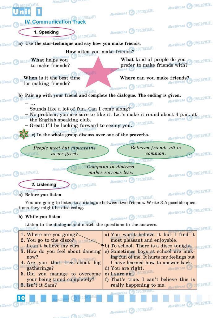 Підручники Англійська мова 8 клас сторінка 10