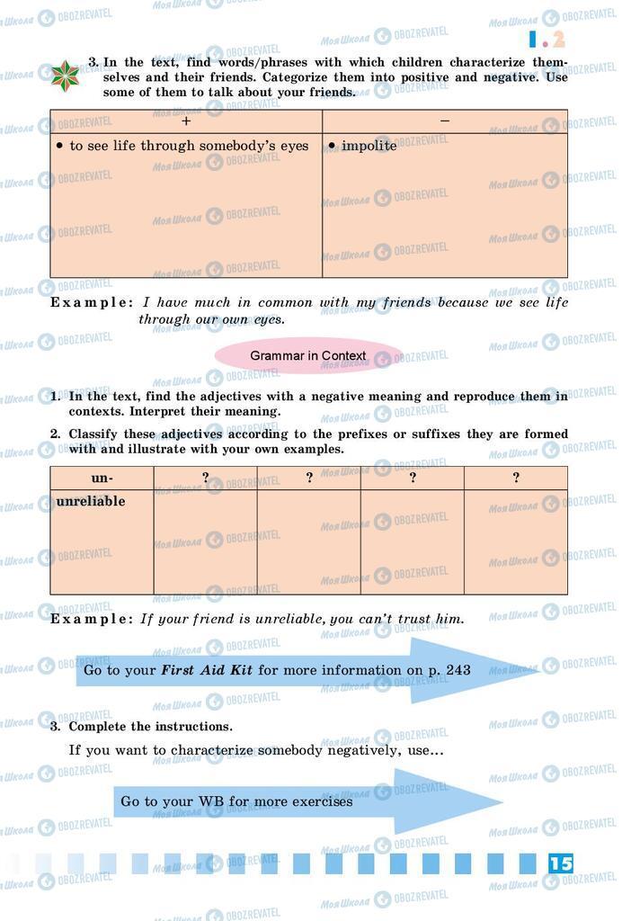 Підручники Англійська мова 8 клас сторінка 15