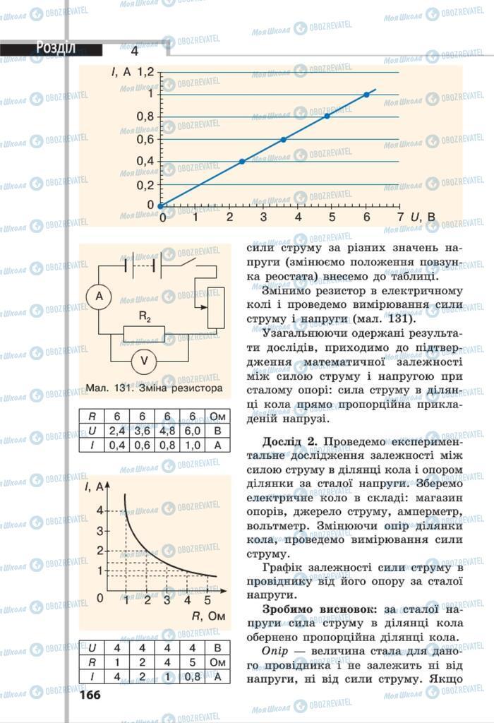 Учебники Физика 8 класс страница 166