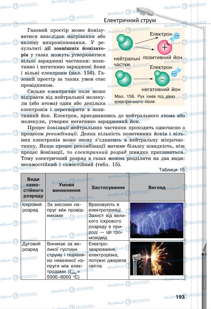 Підручники Фізика 8 клас сторінка 193