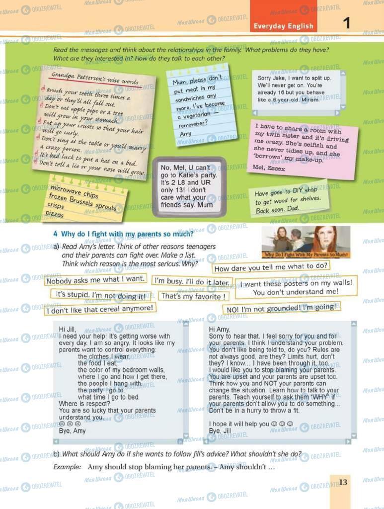 Підручники Англійська мова 8 клас сторінка 13