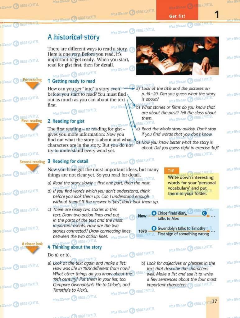 Підручники Англійська мова 8 клас сторінка 17