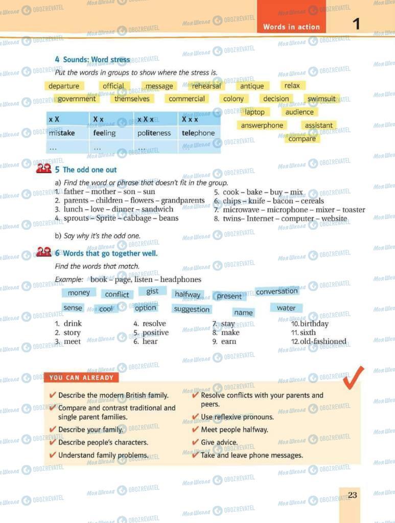 Підручники Англійська мова 8 клас сторінка 23
